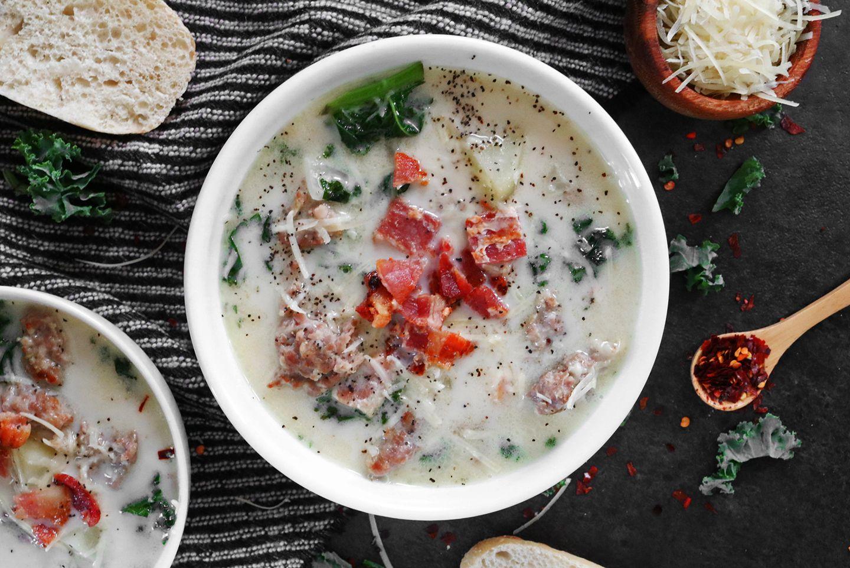 Copycat Recipe: Olive Garden's Zuppa Toscana Soup #zuppatoscanasoup