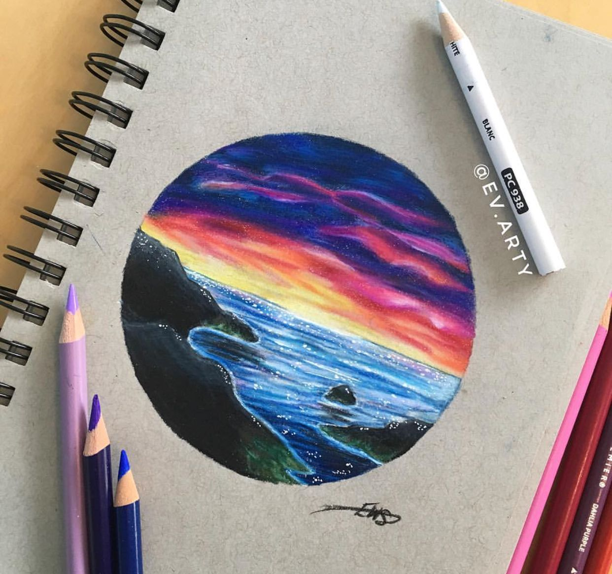 Idea By Sapphire On Drawing Color Pencil Art
