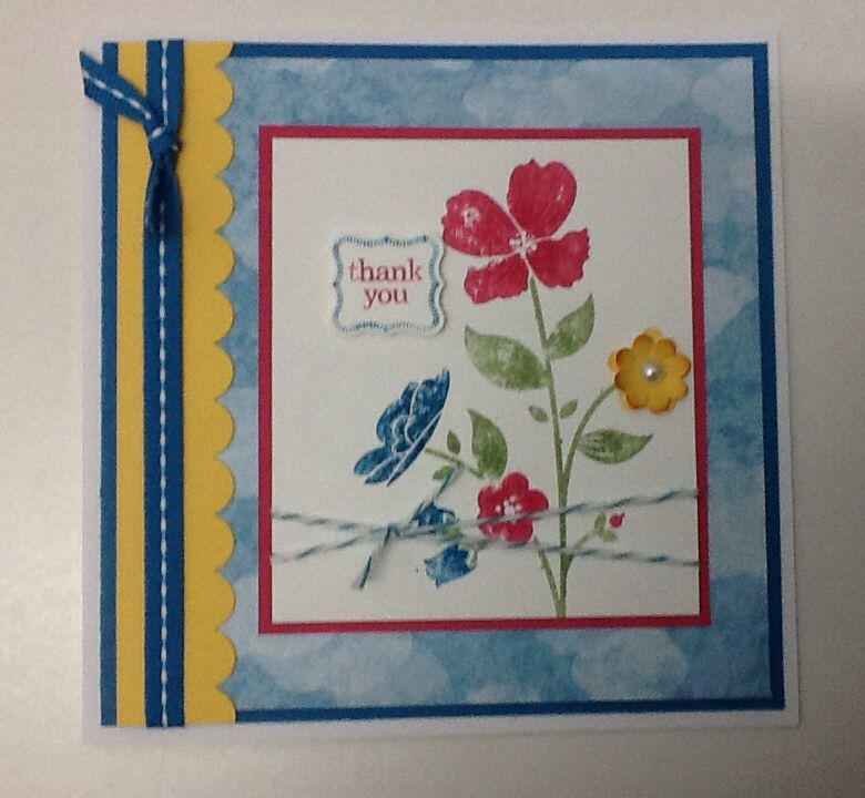 Stampin up wild flower meadow