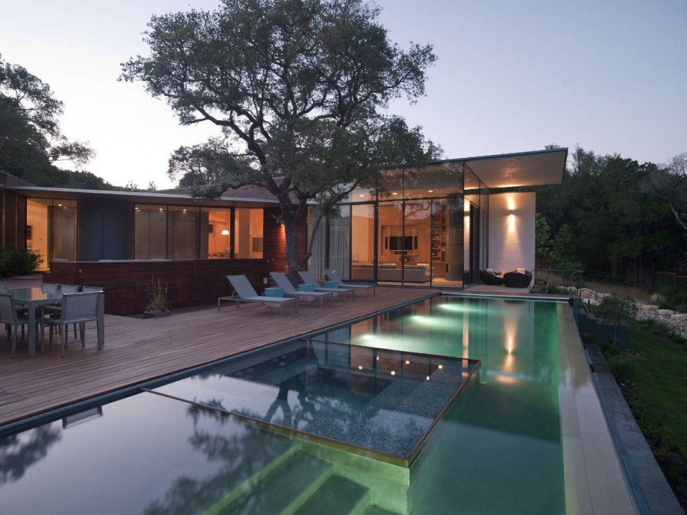Cascading Creek House in Austin, Texas by Bercy Chen Studio