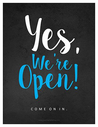 Art Prints We Are Open Sign Happy Labor Day Business Signage