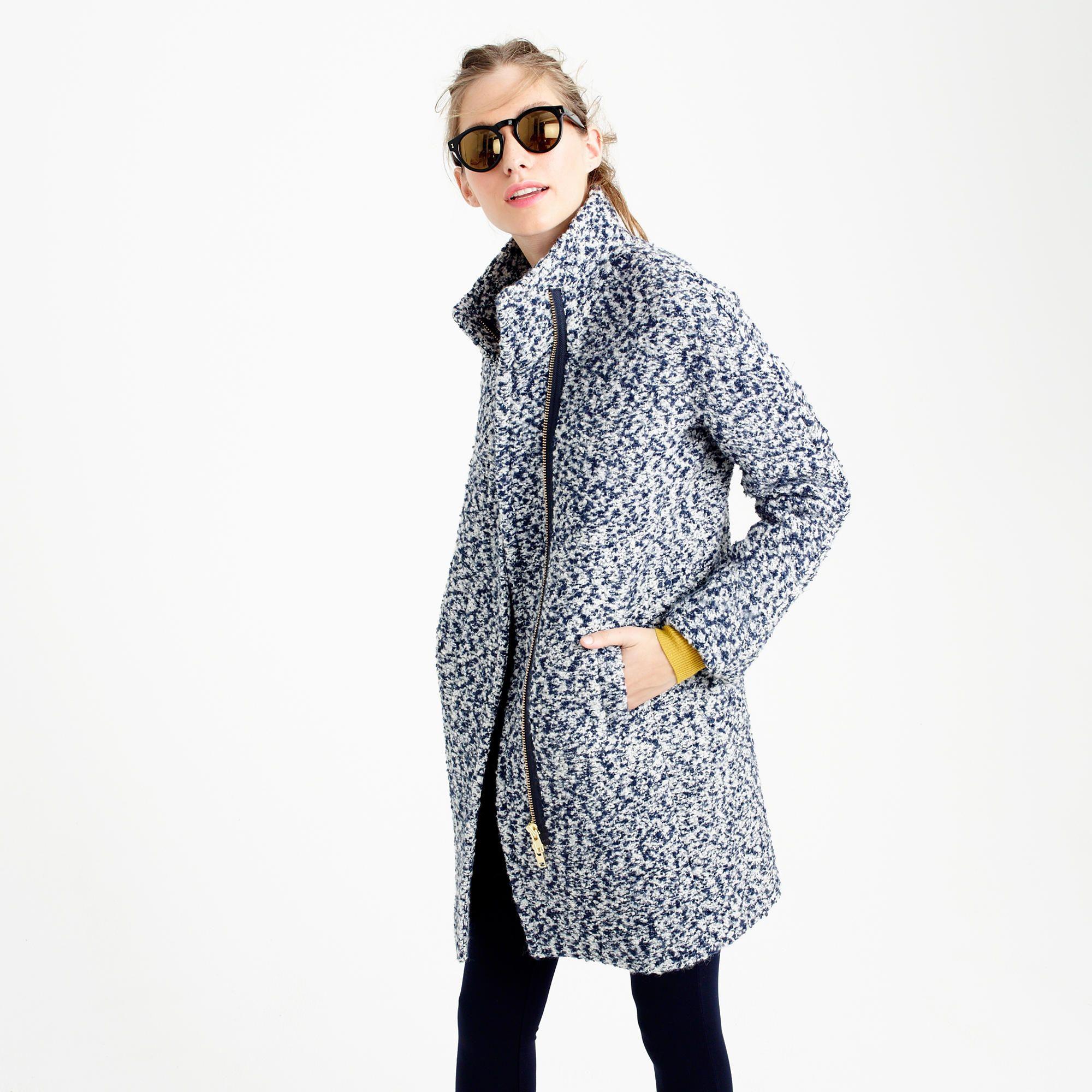 f0000c948cd3 Bouclé cocoon coat   wool