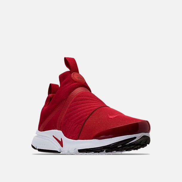 d96be0887d1e9 Three Quarter view of Boys  Grade School Nike Presto Extreme Running Shoes  in Gym Red Gym Red White Black