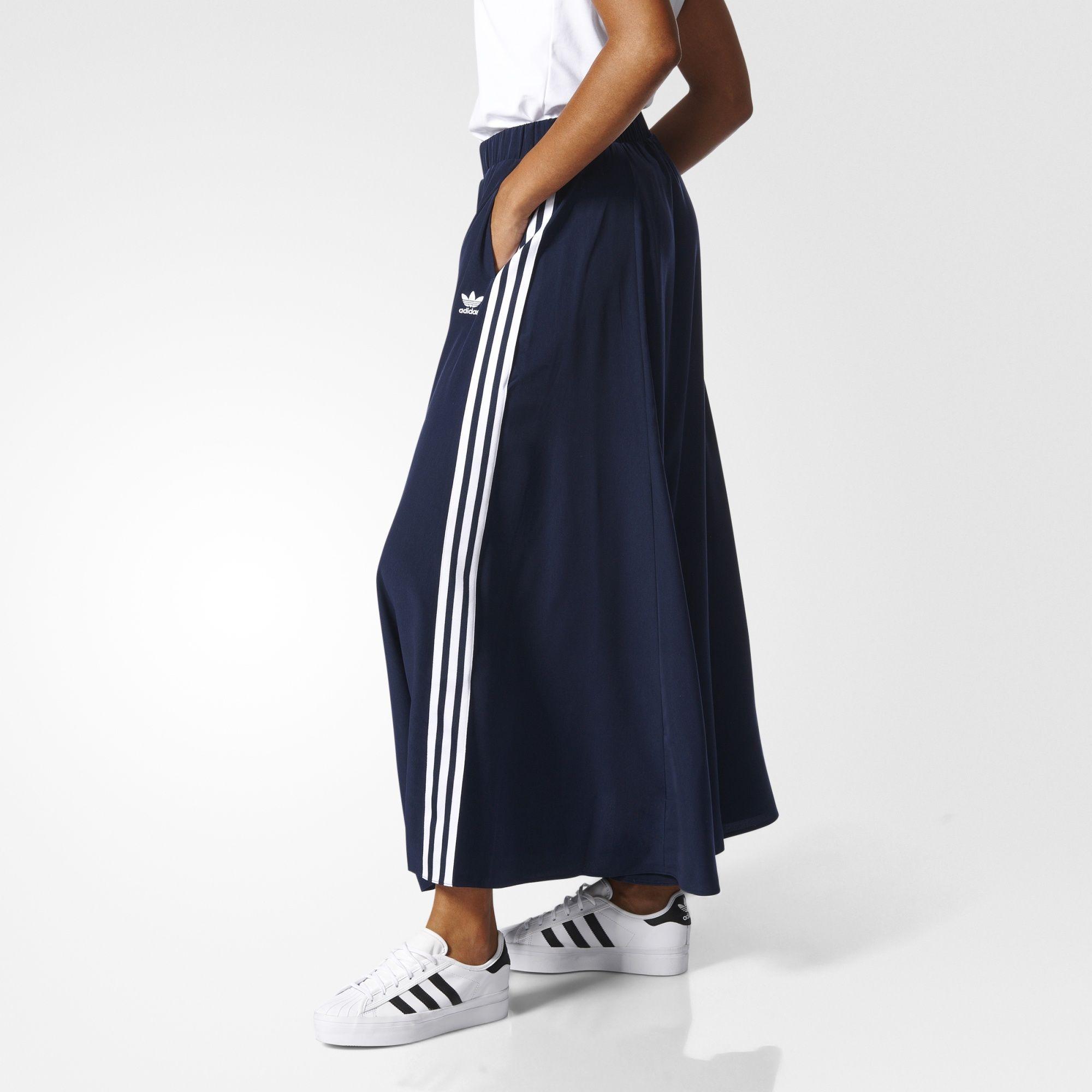 Soldado mezclador Baya  adidas - Falda Larga Originals | Faldas deportivas, Moda con faldas largas,  Ropa de moda