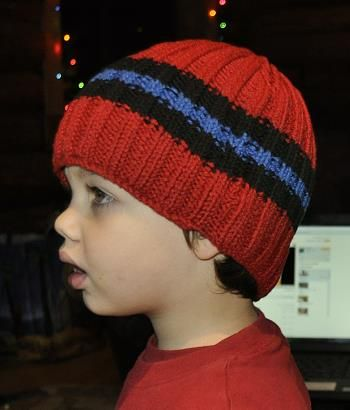0832d045831 Cotton Twirl Everyday Stripes Hat- Crystal Palace Yarns - free knit hat  pattern