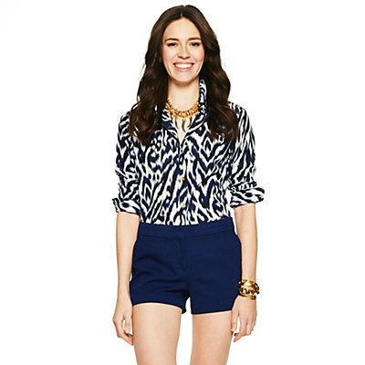 Silk Zebra Print Shirt for $128 on C. Wonder! Click on the image and receive 20% off your next full-price purchase and find something you love too!