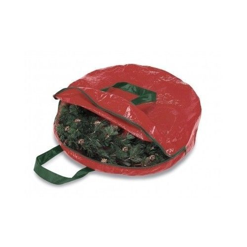 Wreath and Garland Seasonal Christmas Storage Organizer Bag New