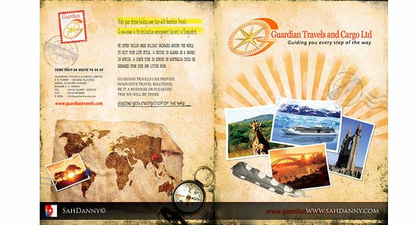 Travel Design Back  Awesome Travel Brochure Template Designs