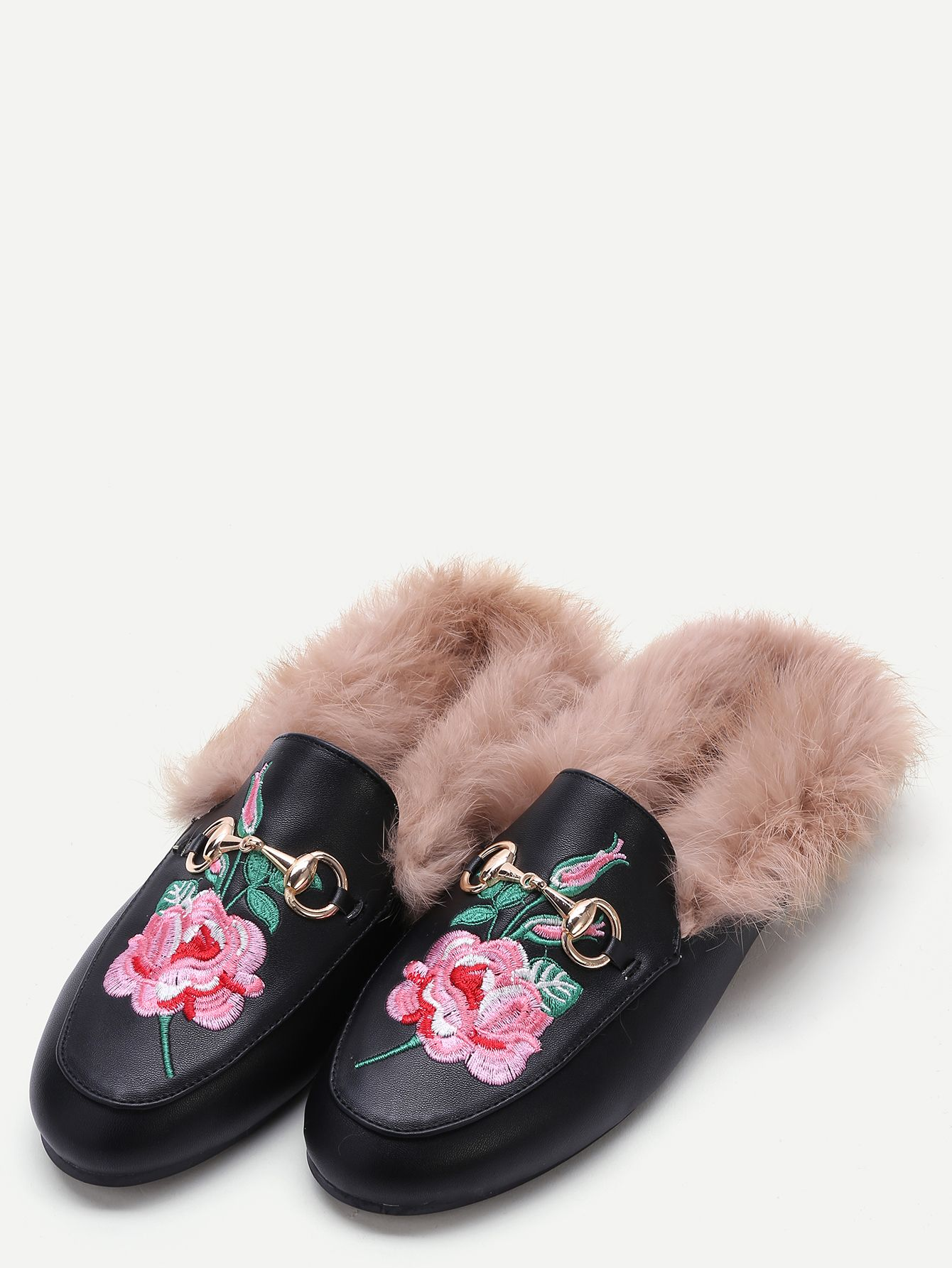 79eb68f1ce17 Floral Embroidered Loafers for only  36! Floral Fur Loafers