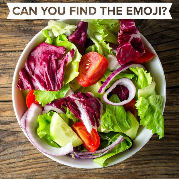 This First One S Pretty Easy Can You Find The Emoji In This Salad Food Photo Food Canning