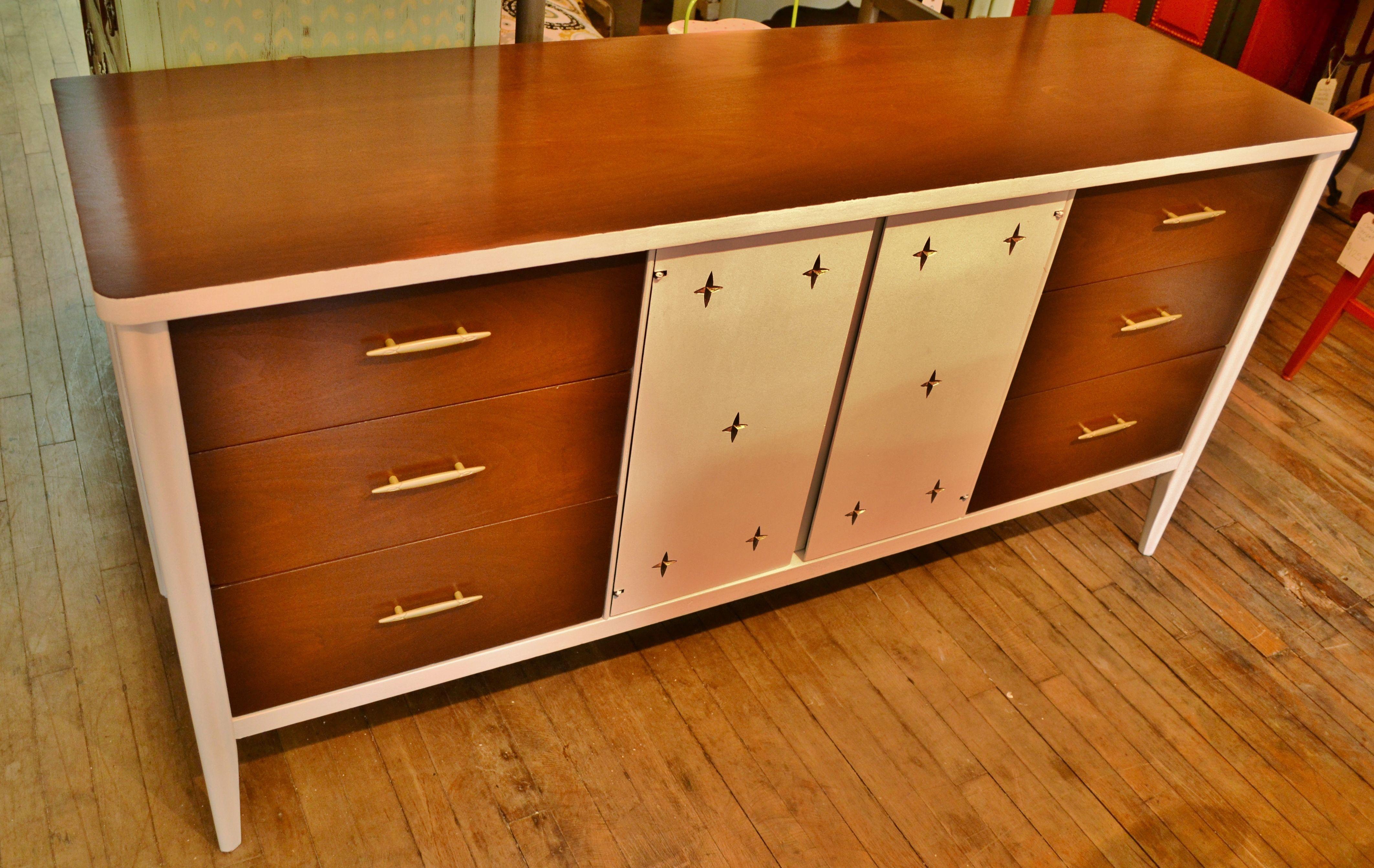 Best Mid Century Modern Long 9 Drawer Dresser Wood Parts Were 400 x 300