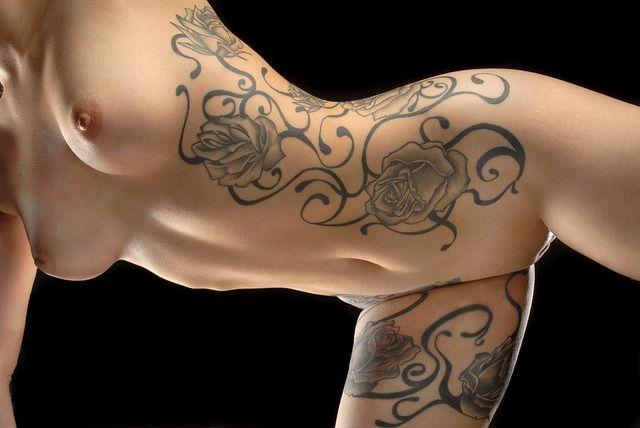 vagina tattoo on