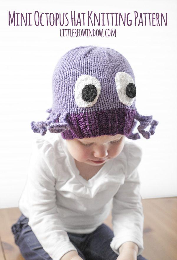 Mini Octopus Hat Knitting Pattern | Pinterest | Knit patterns ...