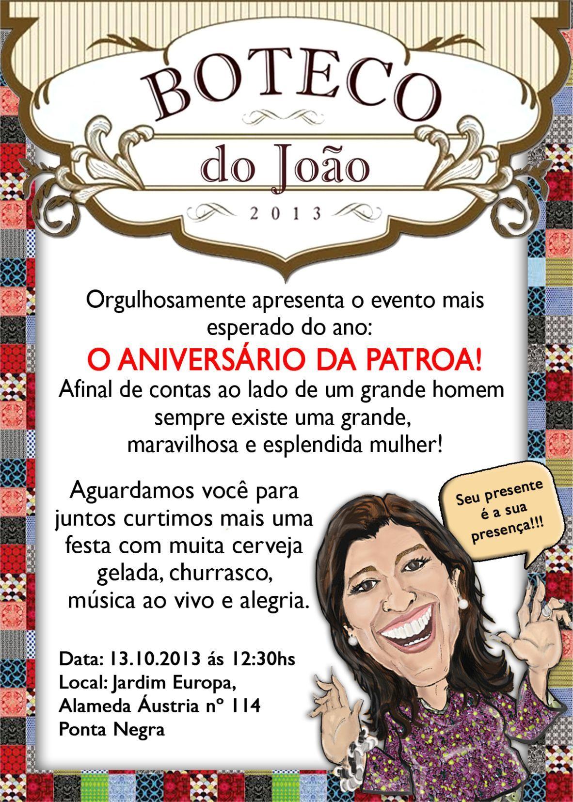 Convite Boteco Festa Convites Criativos