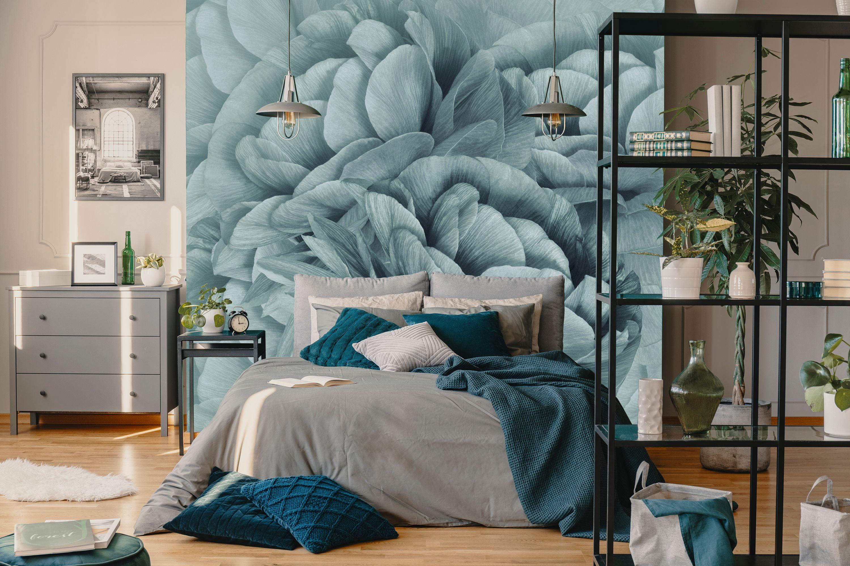 Kwiatowy Turkus Tlo Bukiet Turkusowych Kwiatow Zblizenie Kwiatowy Fototapety Redro Small Bedroom Decor Bedroom Decor Small Bedroom