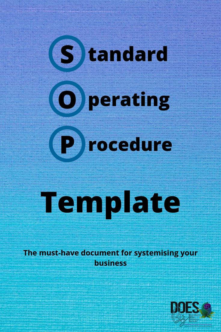 Create A Standard Operating Procedure Template Standard Operating Procedure Template Standard Operating Procedure Templates