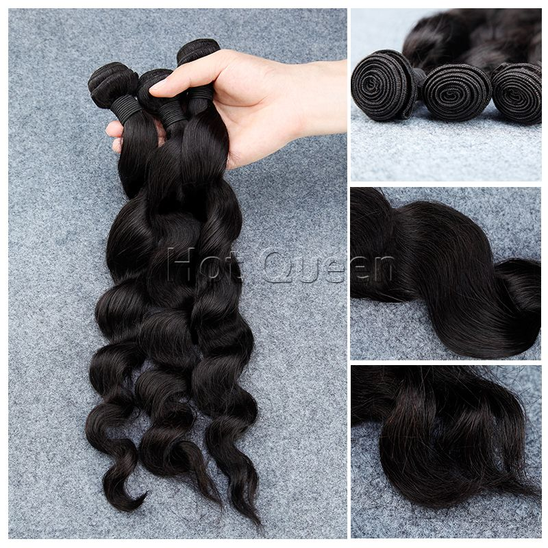 Queen Hair Products Peruvian Body Wave Bundles Deal 3pcs/lot 100% Virgin Human Hair Weave 7a Natural Color Hair Extensions Human Hair Weaves