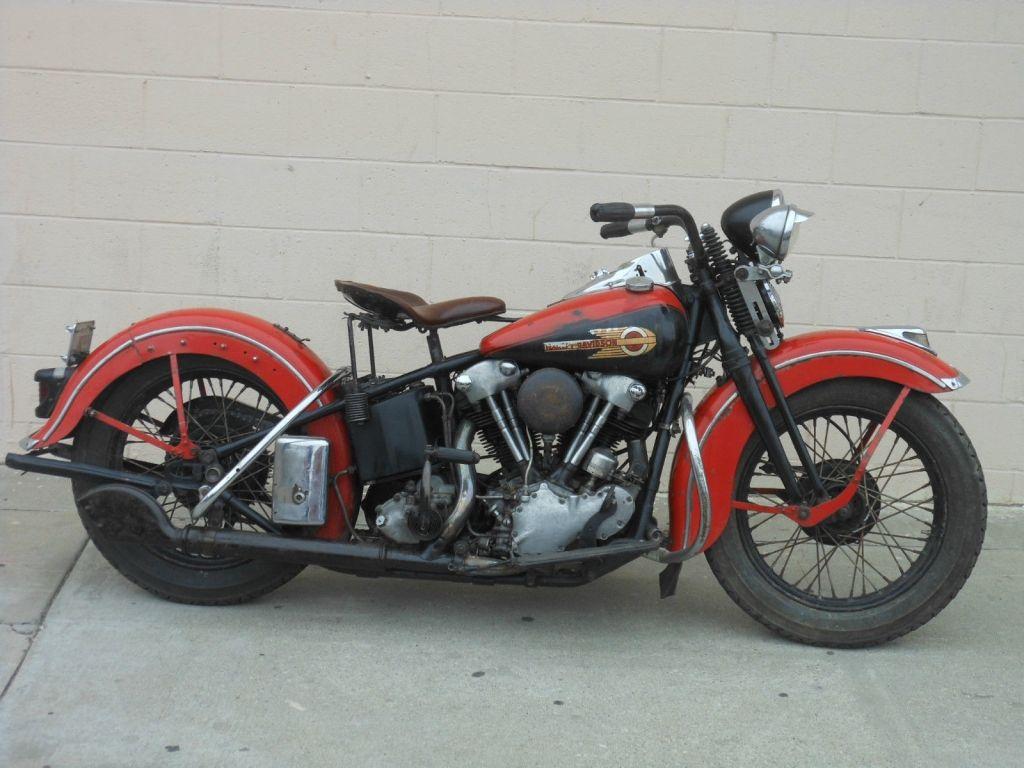 Vintage Harley Knuckle Head 1939 El Harley Davidson Motorcycles
