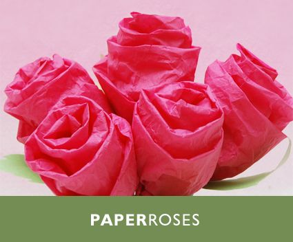 Paper Tissue Roses Are A Great Alternative To Artificial Flowers