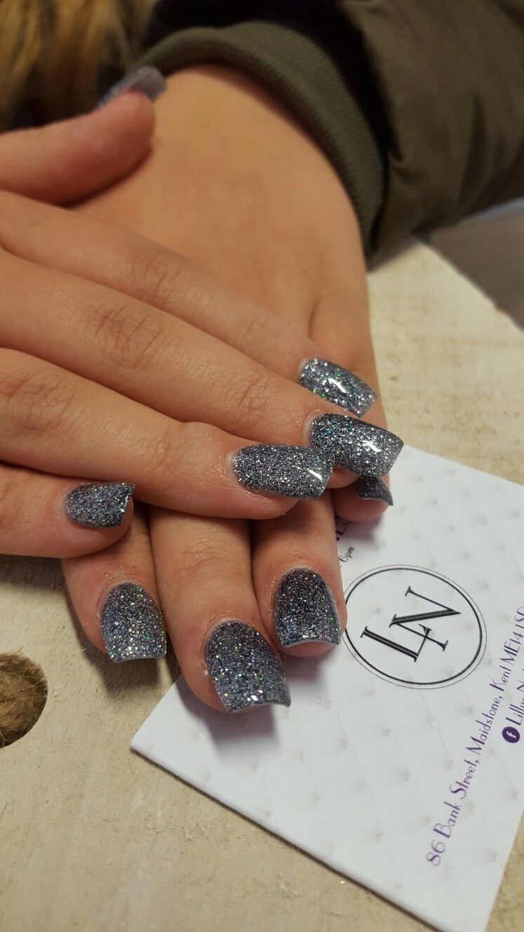 Square Nails. Glitter Nails. Lillys Nails Maidstone | Nailed it ...
