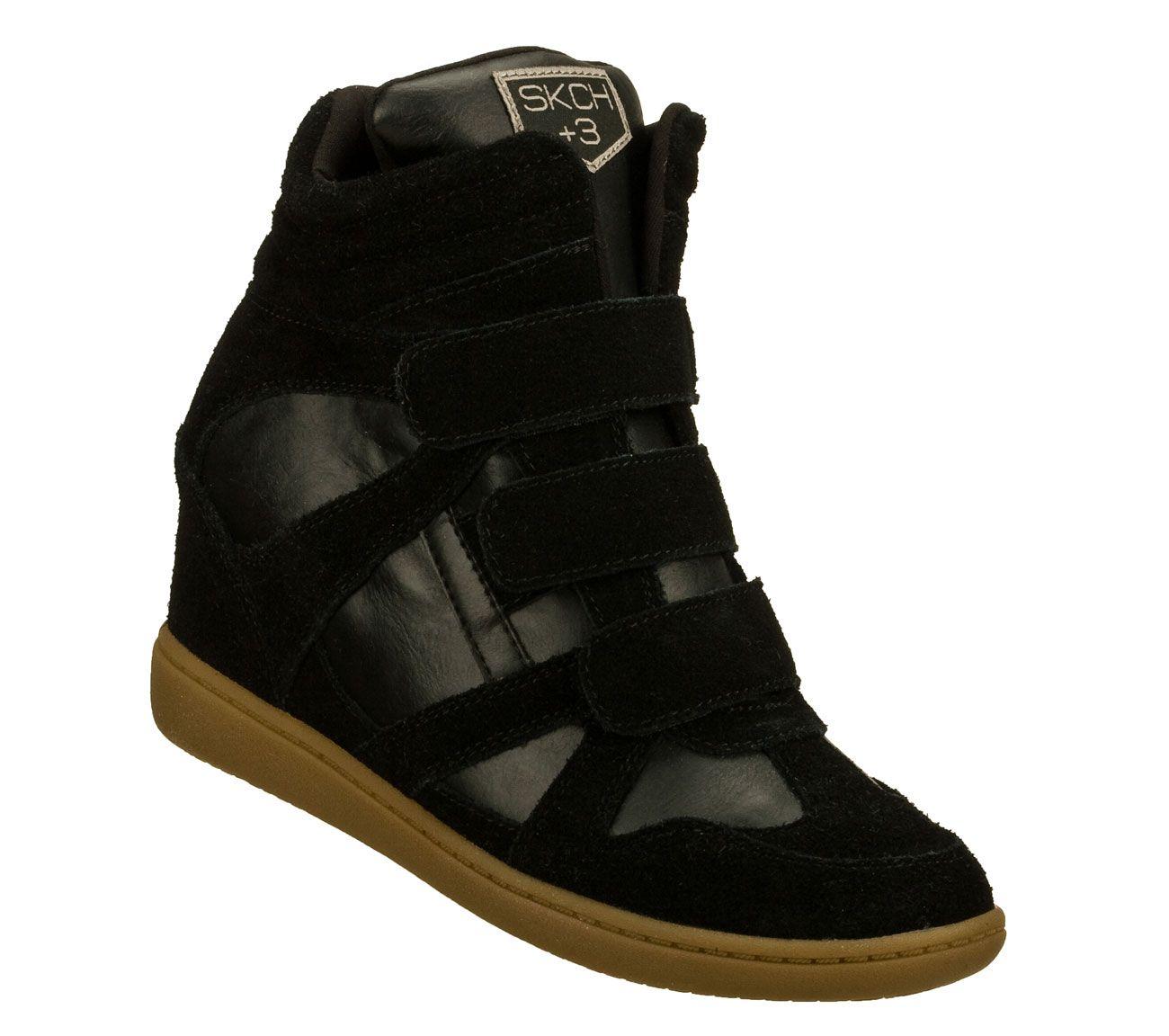 skechers plus 3 wedge sneakers
