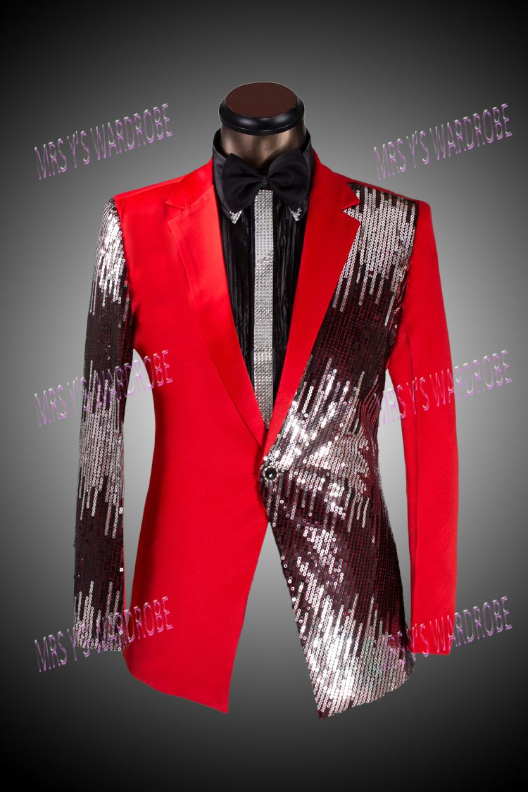 Red Sequin Tuxedo blazer | Mens Fashion | Pinterest | Red tuxedo ...