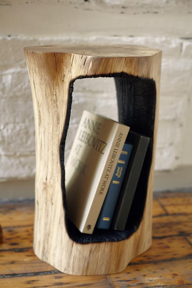 Wood Book Stand Coffee Table Book Holder Wooden Table Book Shelf Book Tree Stump Stool Log Table End Table Wooden Tree Stool Wood Book Stand Tree Stump Coffee Table Stump Coffee