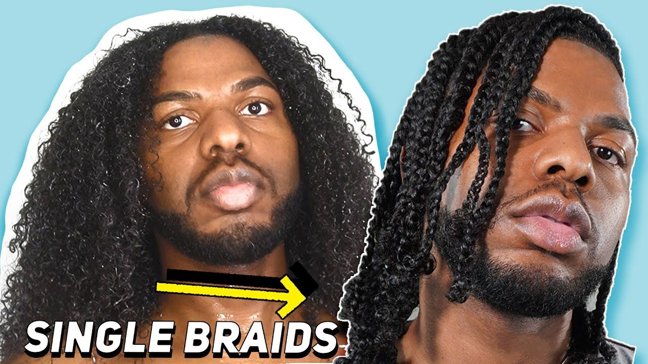 Braiding My Own Hair Moisturized Single Braids Youtube In
