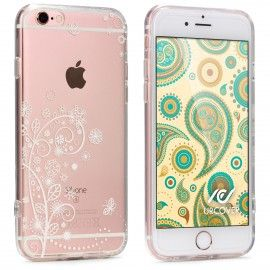 Handyhullen Apple Iphone 6 6s Hulle Floral Style Tpu Urcover Motiv 1 Floral Weiss Apple Iphone 6 Iphone 6 Iphone