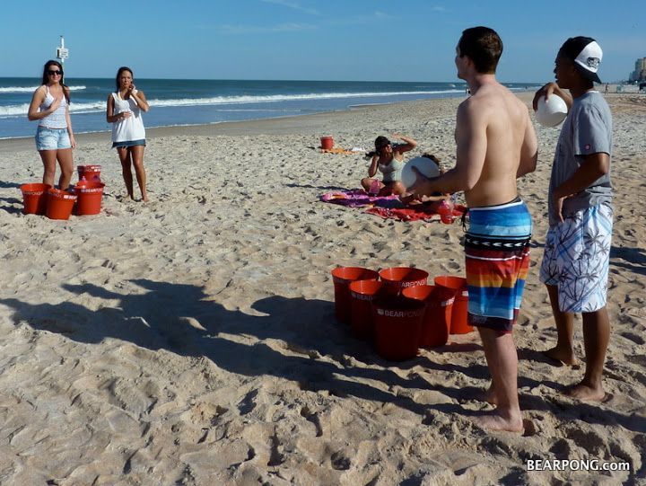 Life Size Beer Pong Could Be Diy With Red Buckets And A Ball