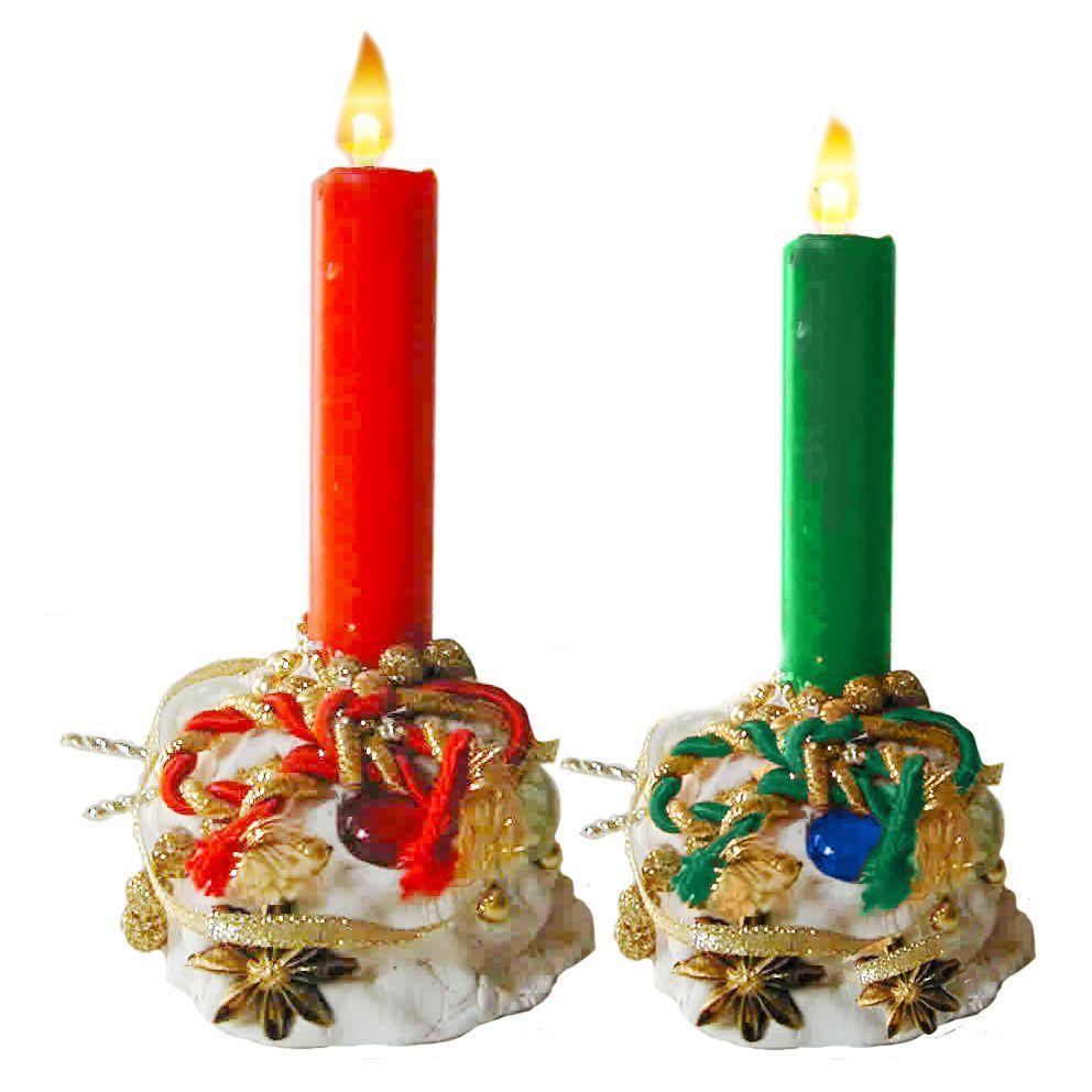 Réaliser un bougeoir baroque de Noël avec pâte à sel - Noel Tête à modeler