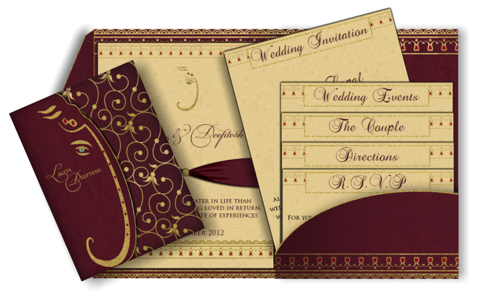 17 Best images about Wedding Invitations – Latest Indian Wedding Invitation Cards