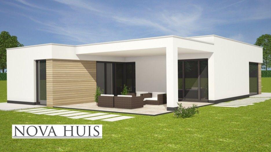 NOVA HUIS Moderne Bungalow Plat Dak Energieneutraal Betaalbaar Bouwen A35