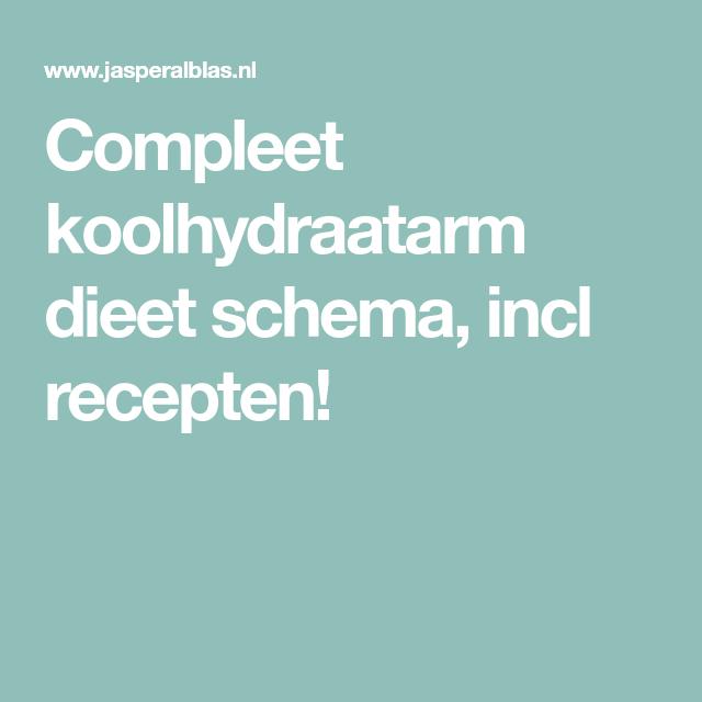 koolhydraten schema