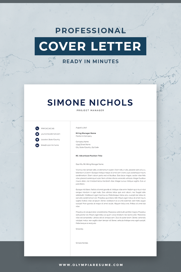 use a professional resume template and make your cover letter look amazing professional resume template pack simone contains 1