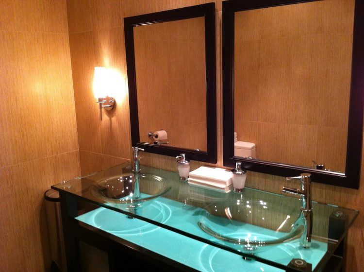 Bathroom Counter Designs Awesome 20 Bathrooms With Glass Countertop Designs  Countertop Bathroom Decorating Inspiration