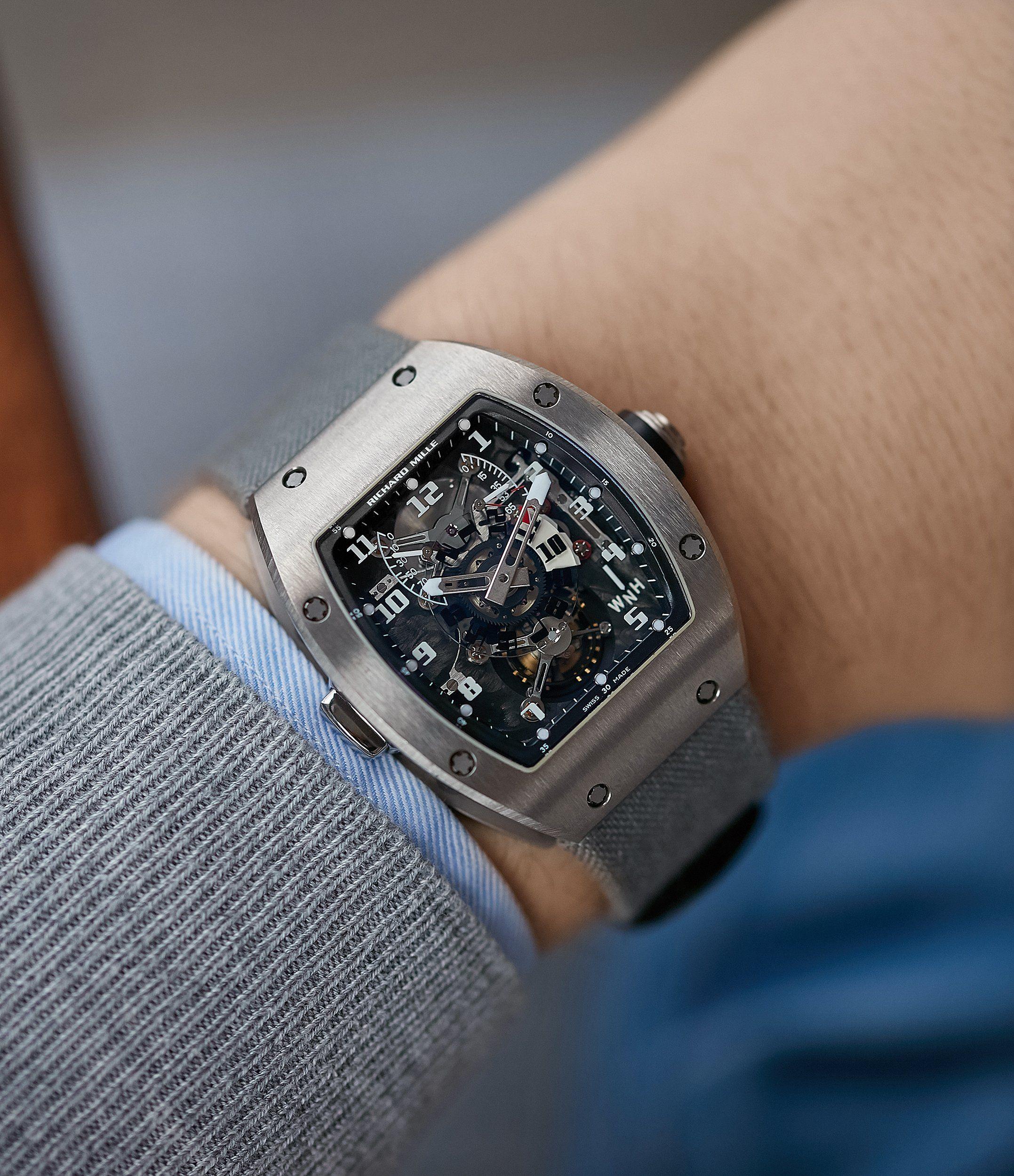 Rm003 V2 Dual Time Tourbillon Titanium Richard Mille Watches Richard Mille Mens Accessories