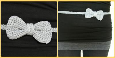Bow Belt Crochet Pattern Gratis Patroon Riem Met Strikje Haken