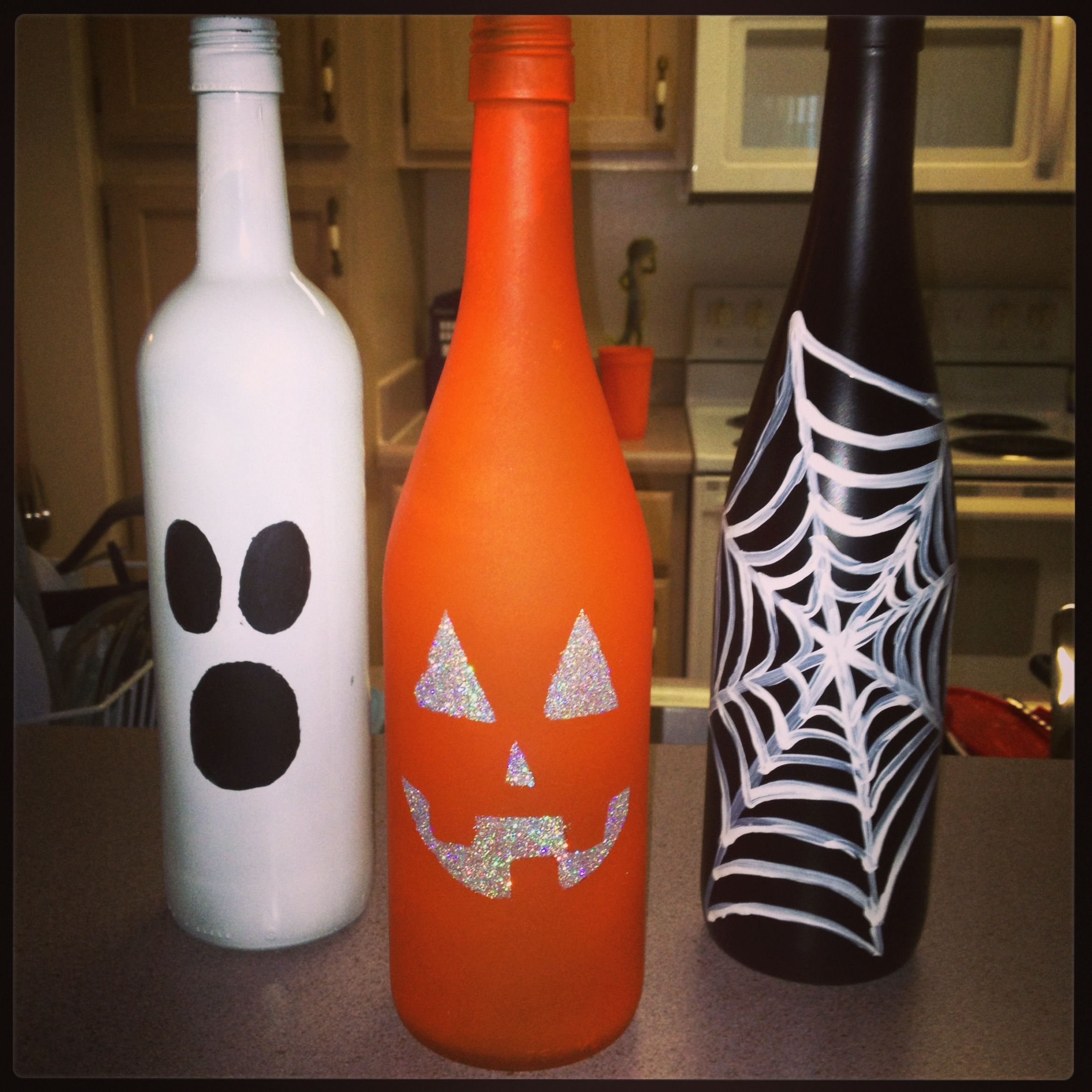 Halloween Bottle Decorations Halloween Wine Bottle Decorations  Holiday & Party Ideas