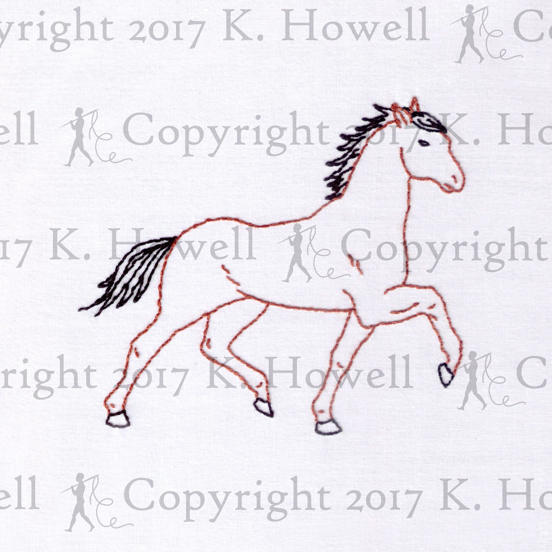 Horse hand embroidery pattern animal hoof trotting running horse hand embroidery pattern animal hoof trotting running equestrian western bankloansurffo Gallery