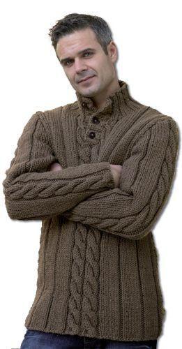 Mens Hand Knitted Polo Sweater 87b Trendy Kwik Knits Pinterest