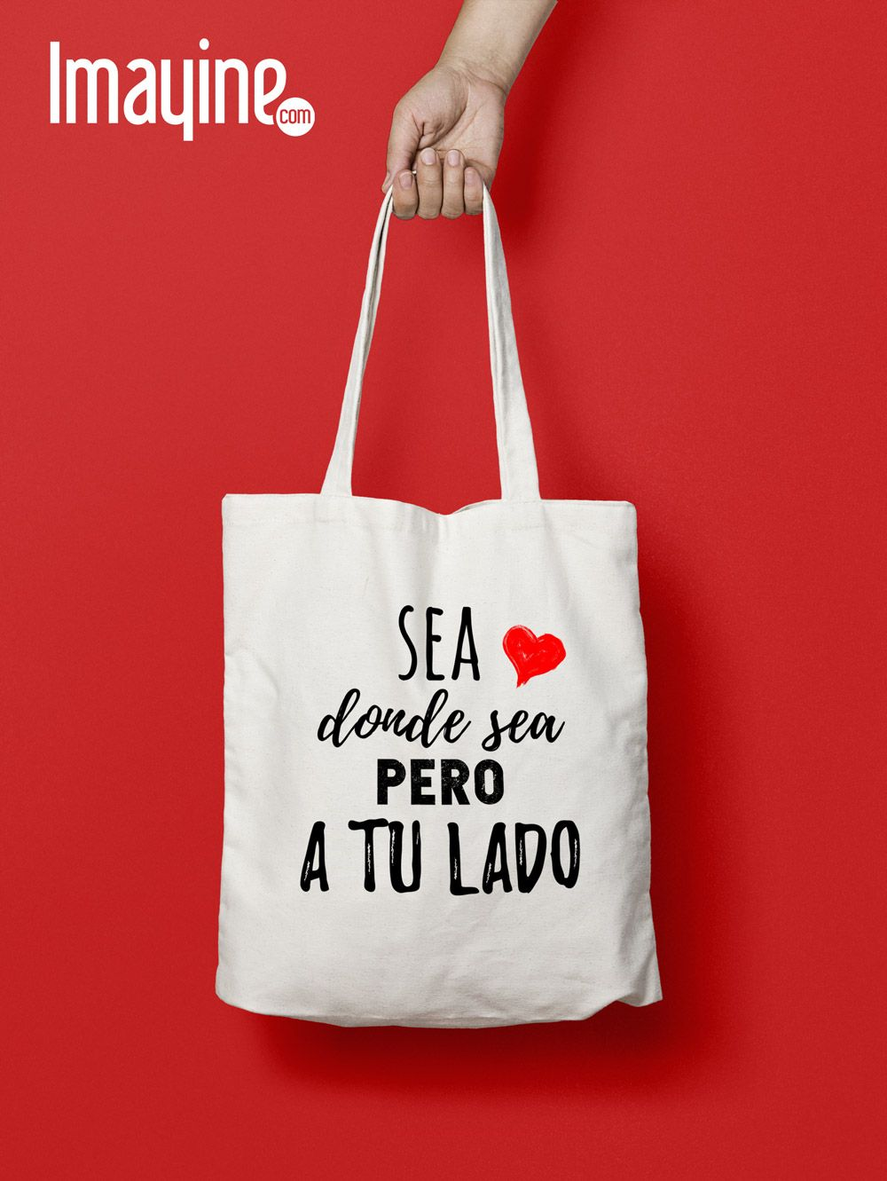 Bolsa De Tela Frase San Valentín Bolsas De Tela