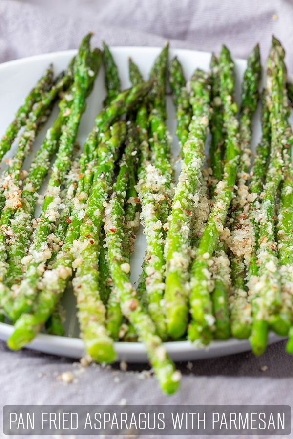 Pan Fried Asparagus with Parmesan #dishesfordinner