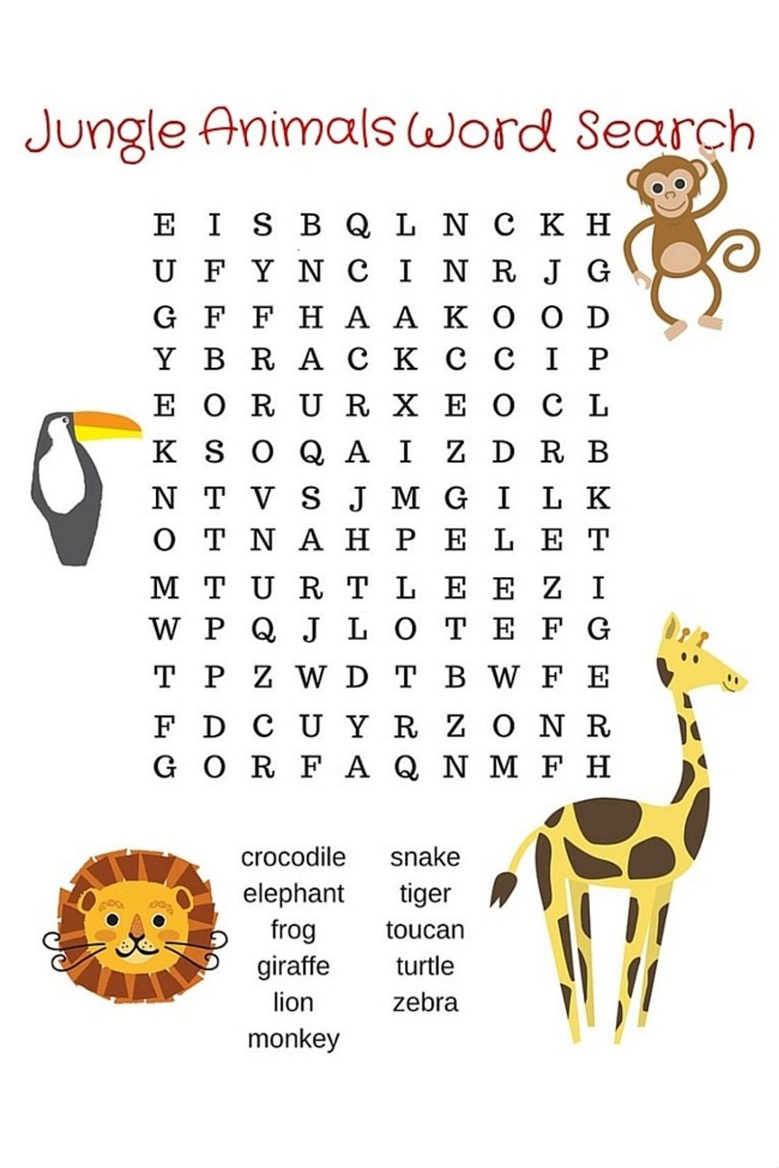 Fun Word Search For Children In With Images