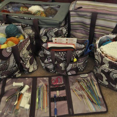 Thirty One For Knitting Crochet And Yarn Crafts Pieces In Plum