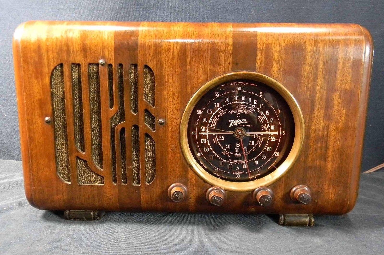 Zenith Model 6 S 223 Scarce Model Fine Repair With Ipod Jack Beautiful Ebay Antique Radio Vintage Radio Old Radios