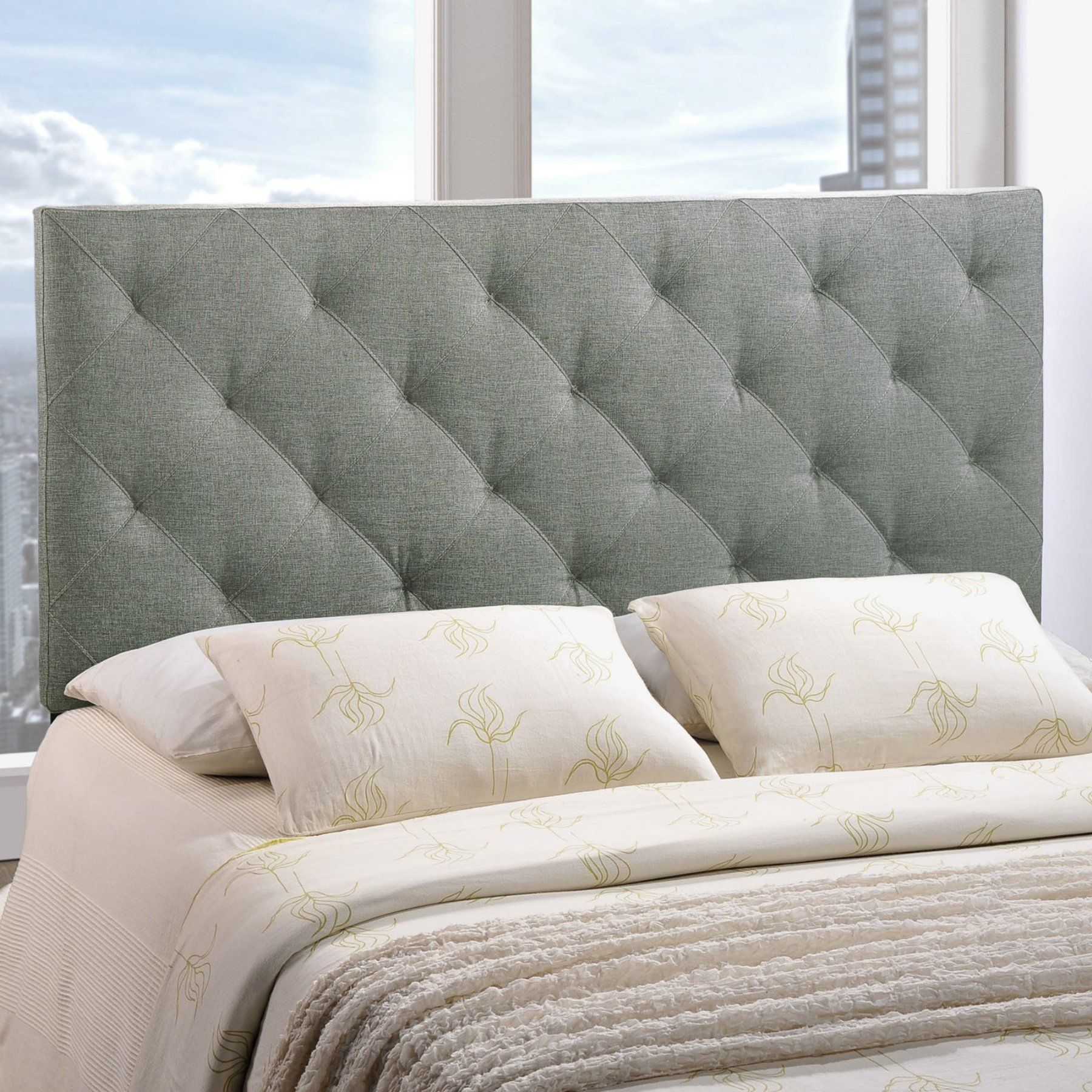 brilliant grey white double design bedspread bedroom contemporary tufted bathroom pillows headboards for with classy headboard and