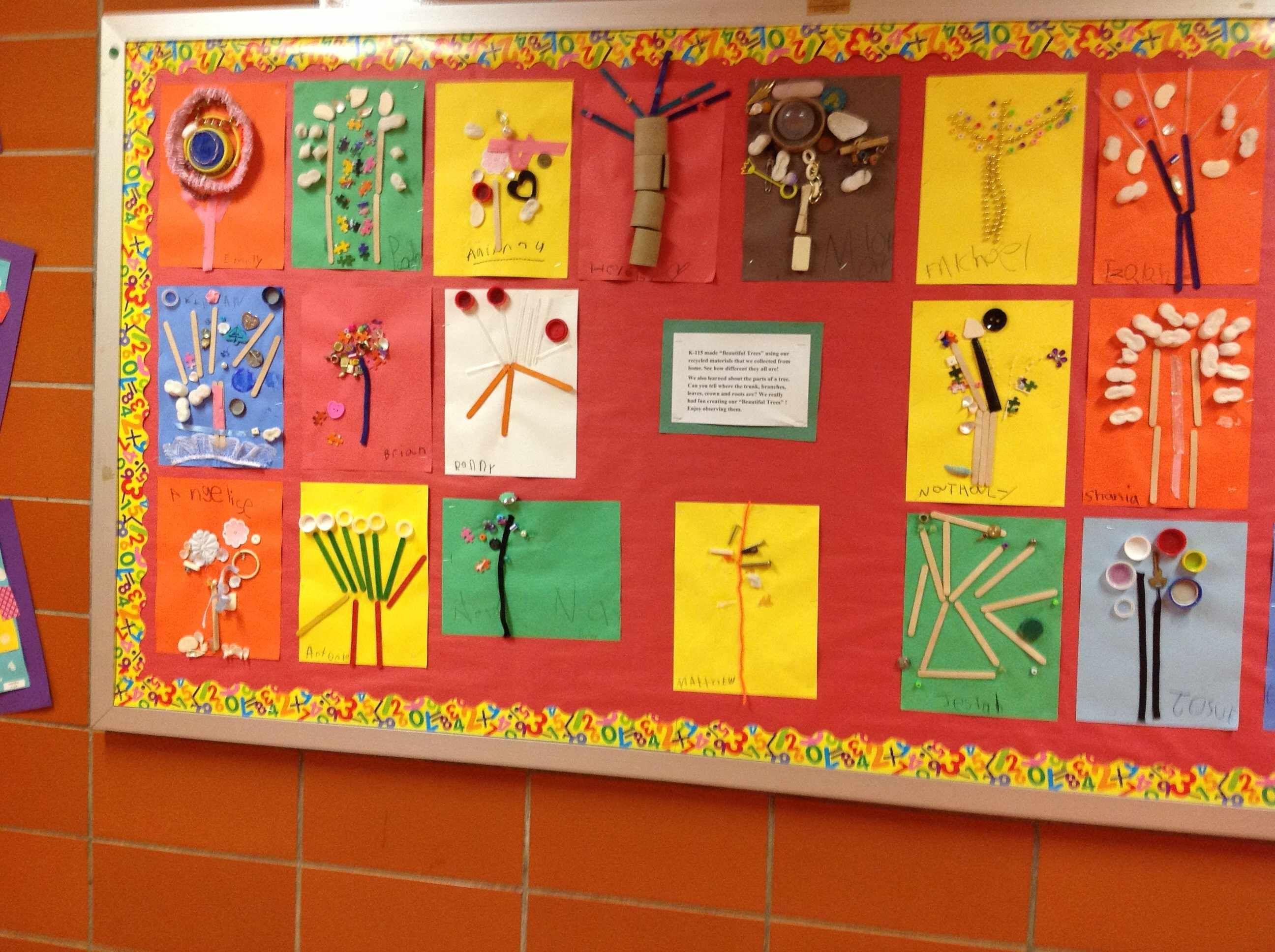 Tree Bulletin Board Pbl Trees Creative Curriculum