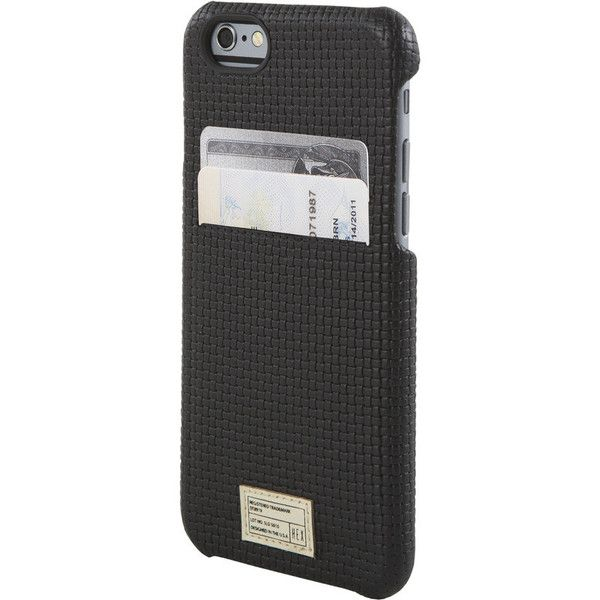 Hex Solo Wallet for iPhone 6 Black Woven Leather | HX1751 BKWV. Get it here: http://bit.ly/1CWNh6I