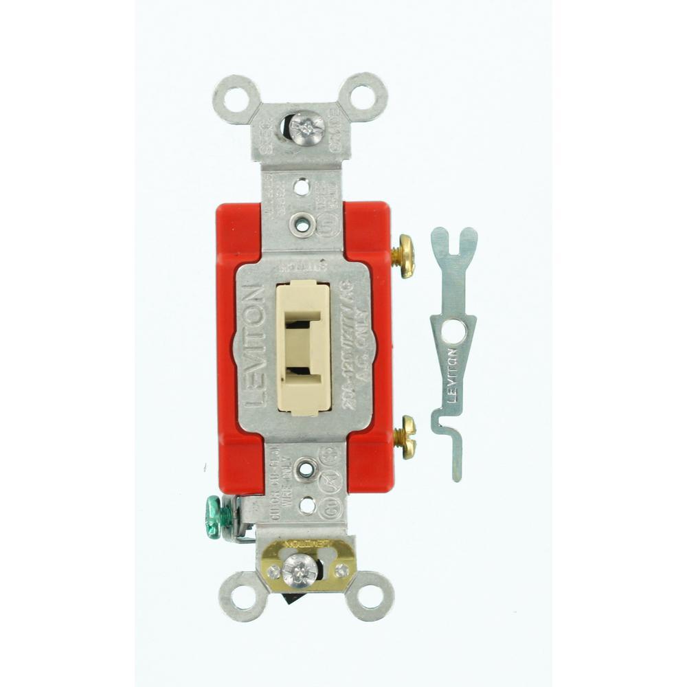 Leviton 20 Amp Industrial Grade Heavy Duty Single Pole Locking Toggle Switch Ivory 364 01221 2il Attic Renovation Attic Remodel Attic Design